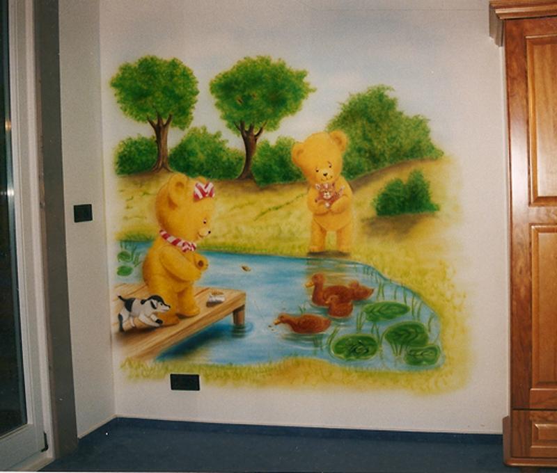 Wandbemalung wandfl chen design des airbrush ateliers - Kinderzimmer wandbemalung ...