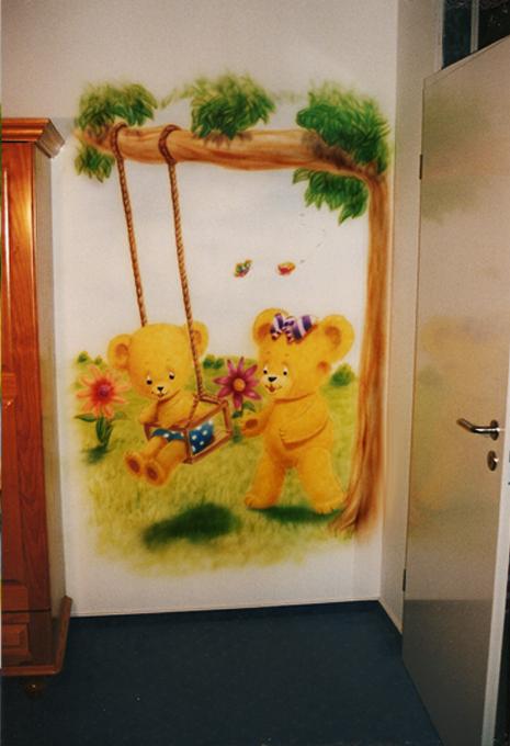 Wandbemalung kinderzimmer inneneinrichtung und m bel for Wandbemalung kinderzimmer