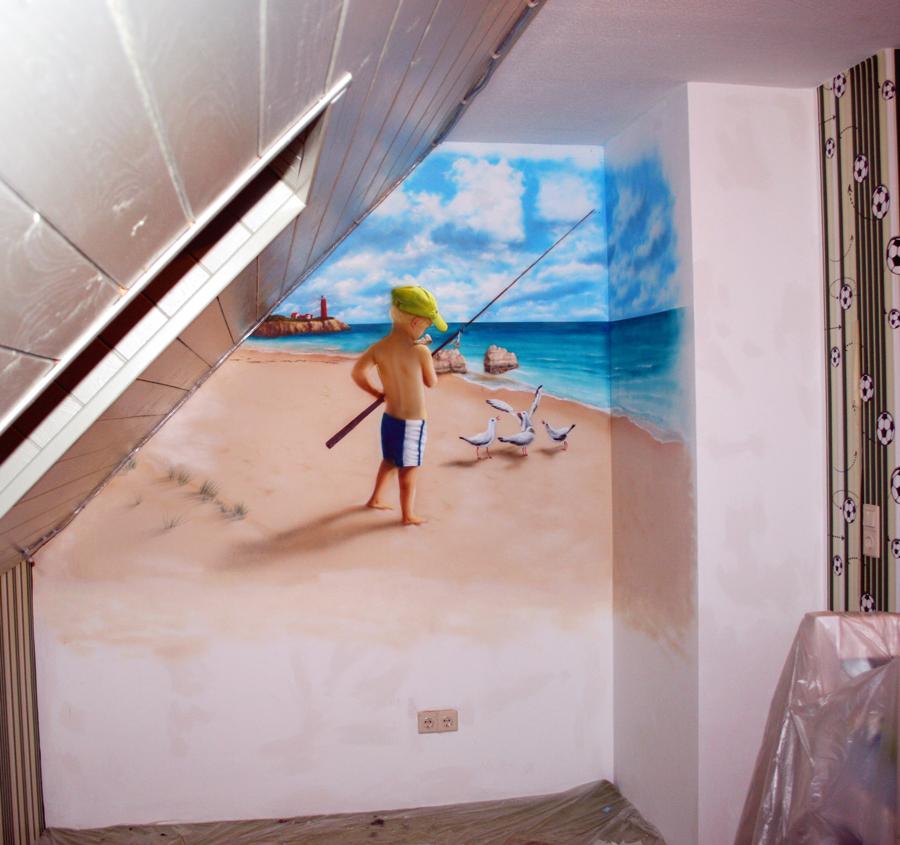 Wandbemalung wandfl chen design des airbrush ateliers - Wandbemalung kinderzimmer ...